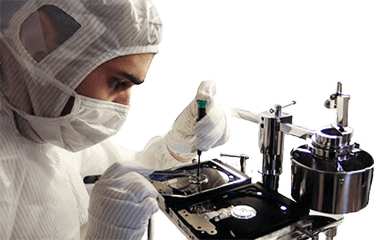 Clean room data recovery service
